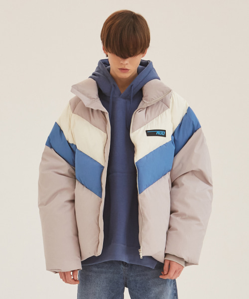 [에드]HEAVY DUCK PUFFER JACKET SKY BLUE