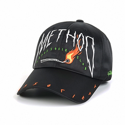 [스티그마]STIGMA METHOD SATIN BASEBALL CAP BLACK