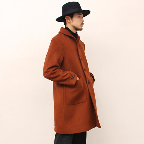 [블랙하인드]Shawl Collar Coat -Reddish Brown-