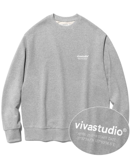 [비바스튜디오]LOCATION LOGO CREWNECK IS [MELANGE]  결제창