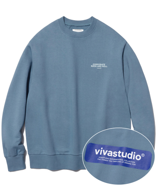 [비바스튜디오] BOX LOGO CREWNECK IS [PASTEL BLUE] 결제창