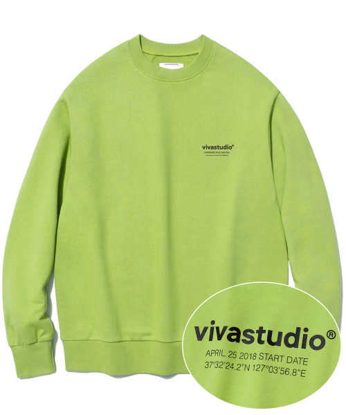 [비바스튜디오]LOCATION LOGO CREWNECK IS [NEON YELLOW]  결제창