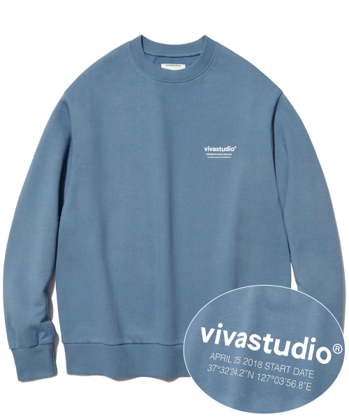 [비바스튜디오]LOCATION LOGO CREWNECK IS [PASTEL BLUE]  결제창