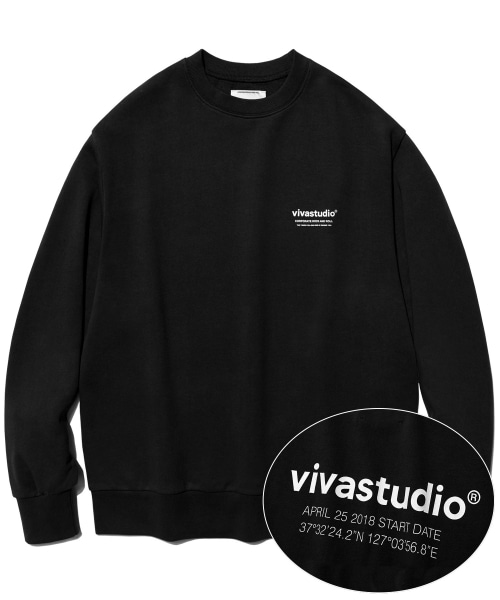 [비바스튜디오]LOCATION LOGO CREWNECK IS [BLACK] - 결제창