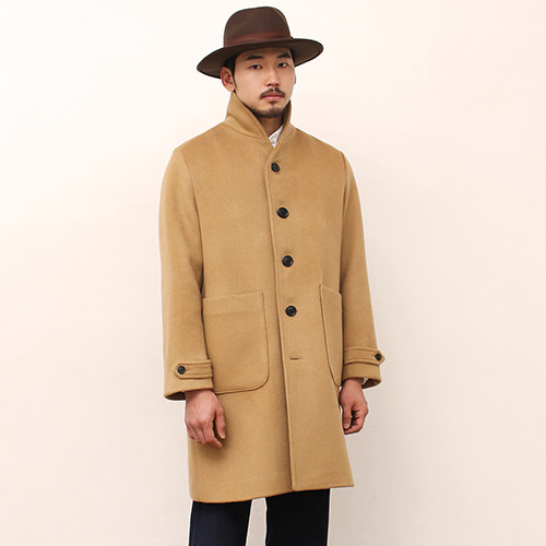[블랙하인드]Shawl Collar Coat -Camel-