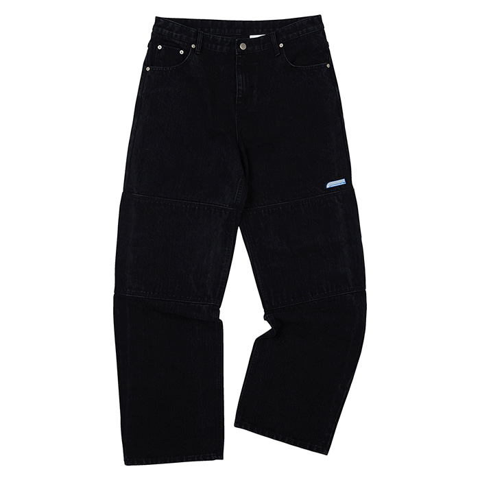 [노매뉴얼] NM DOUBLE KNEE DENIM PANTS - BLACK