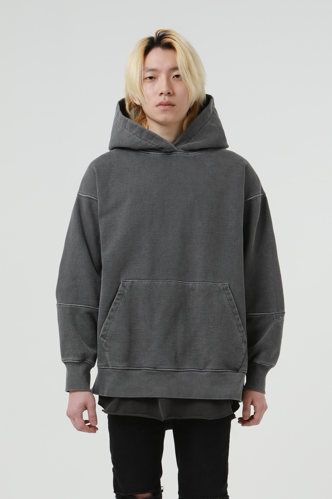 [2/21 예약배송][드네이지] Heavy Armor Washing Hoodies Grey