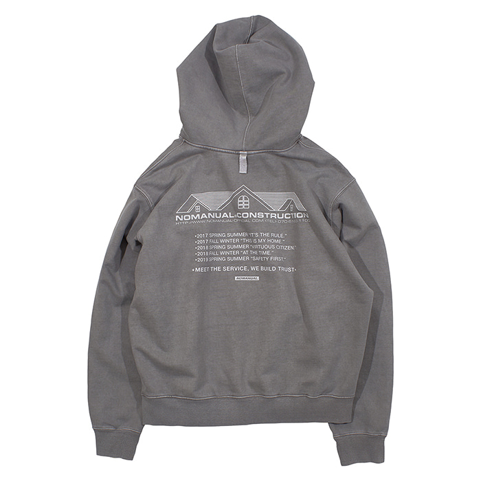 [노매뉴얼]NM CONSTRUCTION HOODIE - GREY