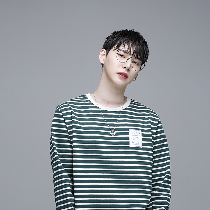 [디쏘에이치] Stripe T-shirt [ Green ]
