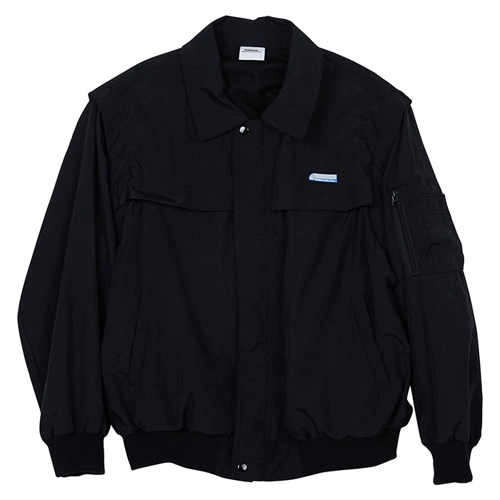 [노매뉴얼] SECURITY BOMBER JACKET - BLACK