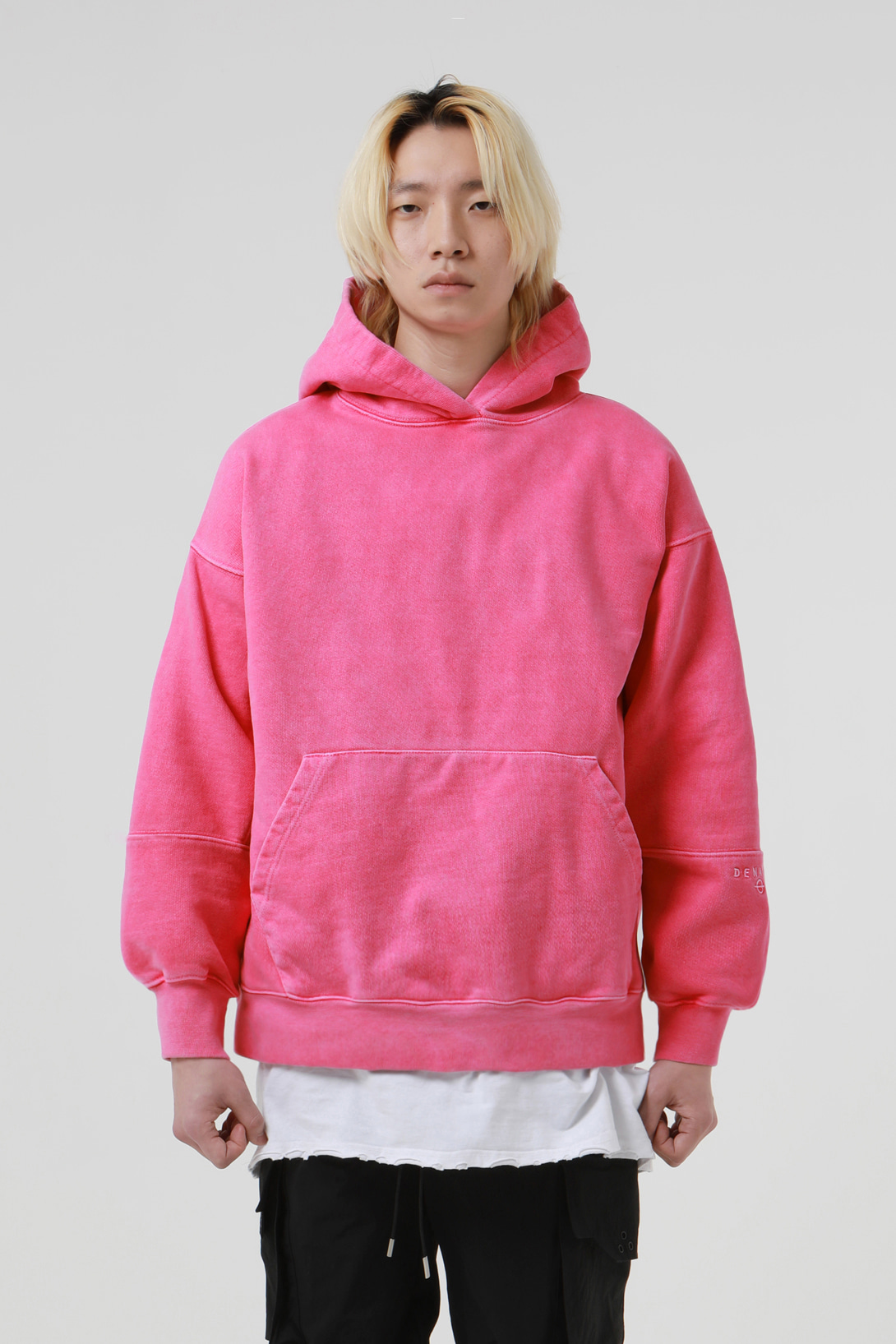 [2/21 예약배송][드네이지] Heavy Armor Washing Hoodies Pink