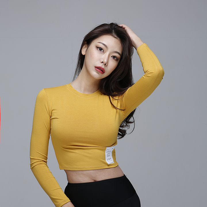 [디쏘에이치] Label Crop [mustard]