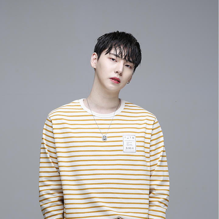 [디쏘에이치] Stripe T-shirt [ Mustard ]