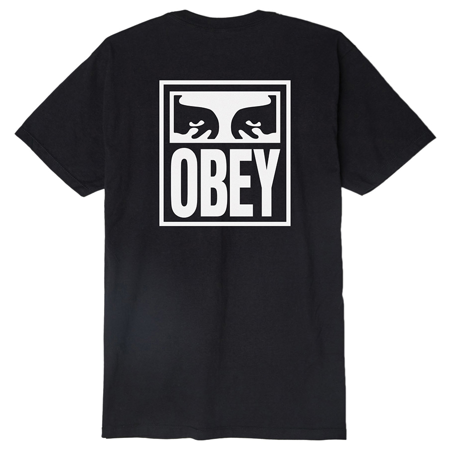 [오베이]OBEY EYES ICON - BLACK 반팔