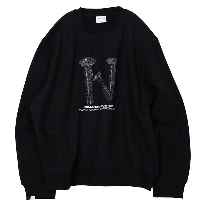 [노매뉴얼]N LOGO SWEATSHIRT - BLACK