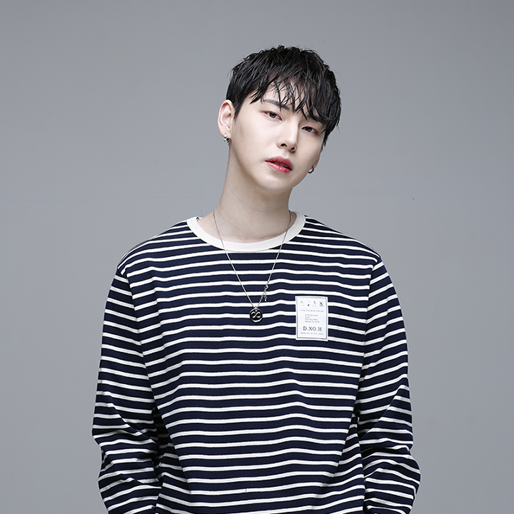 [디쏘에이치] Stripe T-shirt [ Navy ]
