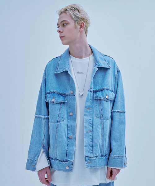 [에드] RAW EDGED DENIM TRUCKER JACKET