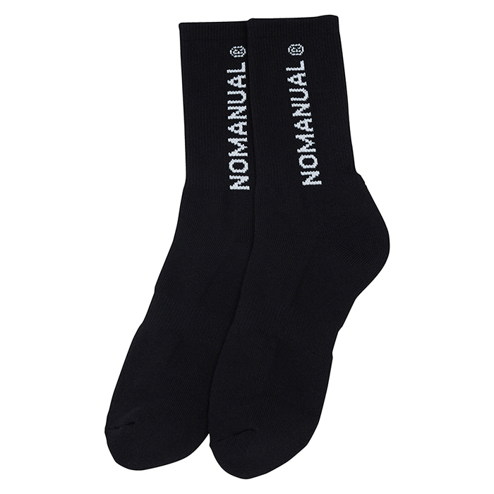 [노매뉴얼]NM LOGO SOCKS - BLACK ( 2PACK )