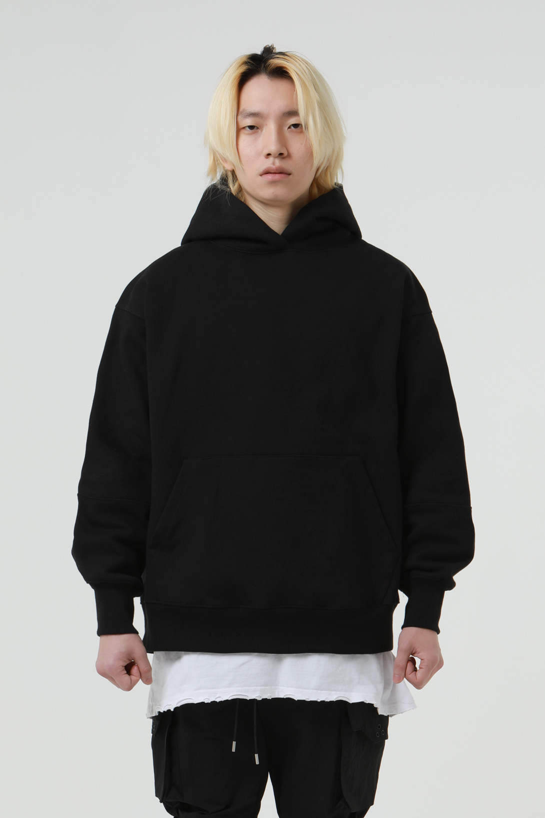 [2/21 예약배송][드네이지] Heavy Armor Washing Hoodies Black