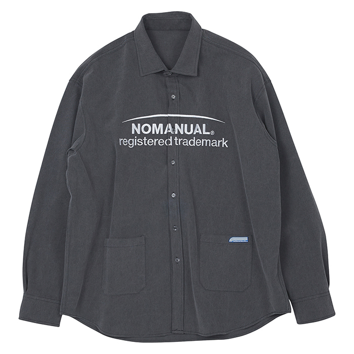 [노매뉴얼]TM LOGO WORK SHIRT - CHACOAL