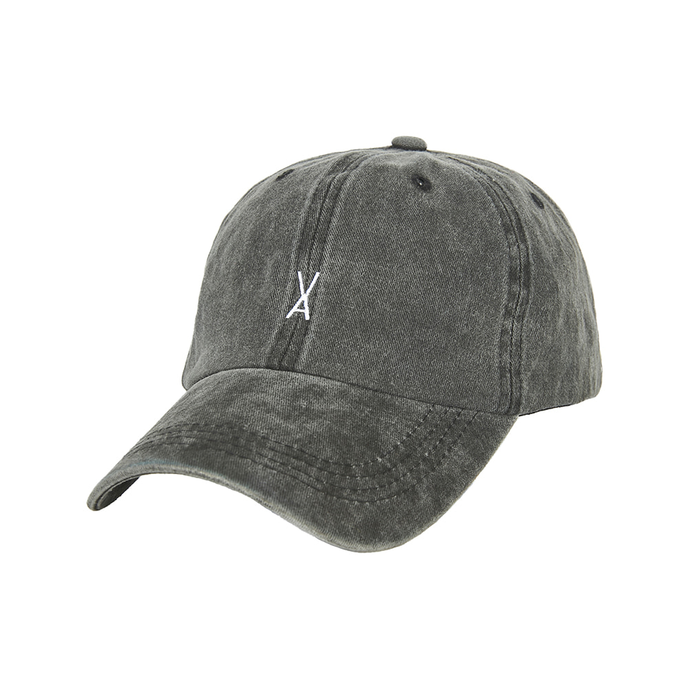 [바잘] Stone washing ballcap black