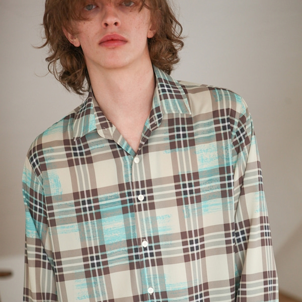 [트립르센스] PAINTED CHECK SHIRTS BEIGE