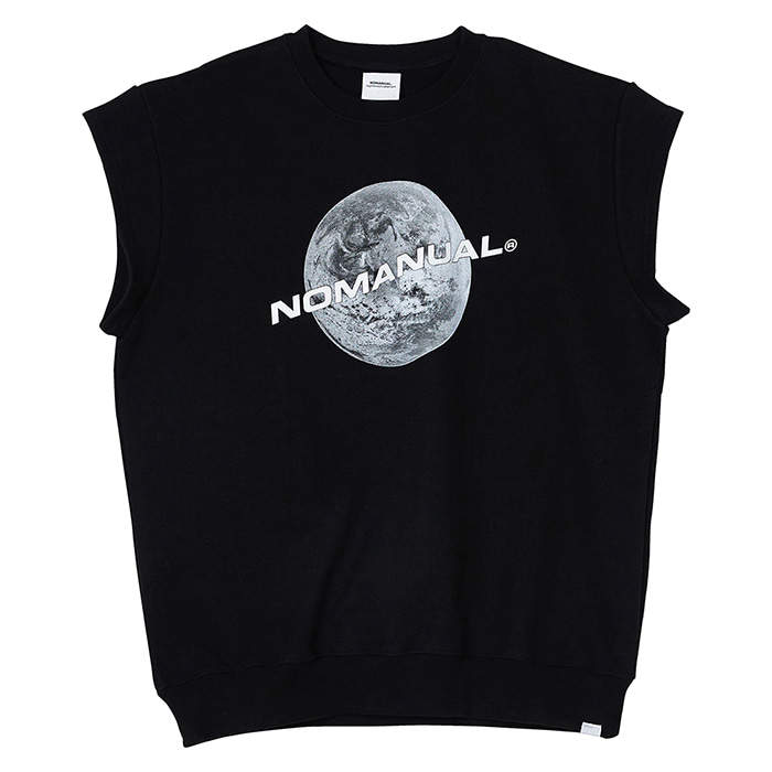 [노매뉴얼] NM SLEEVELESS SWEATSHIRT - BLACK
