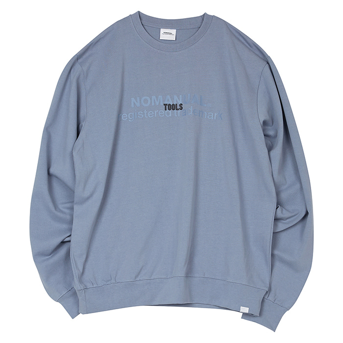 [노매뉴얼] TOOLS LONG SLEEVE TEE - BLUE GRAY