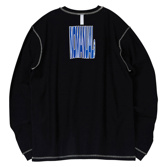 [노매뉴얼] NM REVERSED LONG SLEEVE TEE - BLACK