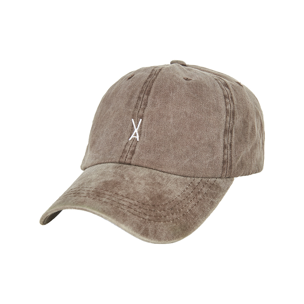 [바잘] Stone washing ballcap brown