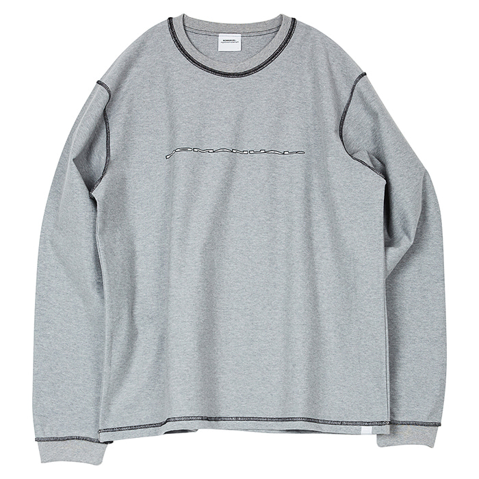 [노매뉴얼] NM REVERSED LONG SLEEVE TEE - MELANGE