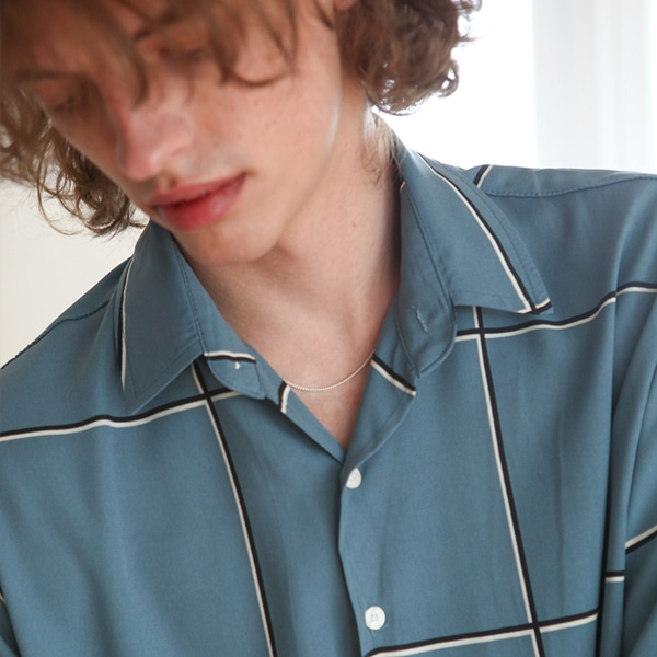 [트립르센스] SQUARE PATTERN CHECK SHIRTS BLUE