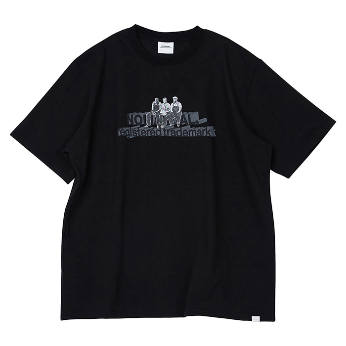 [노매뉴얼] WORKERS T-SHIRT - BLACK