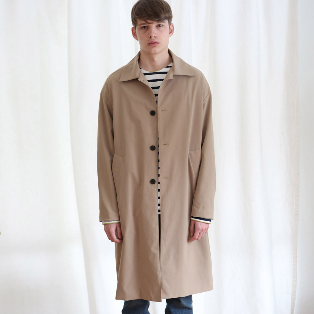 [언아웃핏] UNISEX SINGLE TRENCH COAT BEIGE