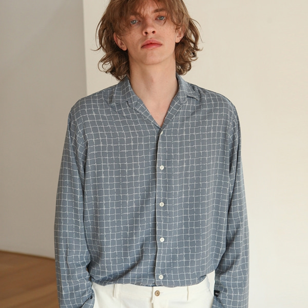 [트립르센스] SPLIT CHECK SHIRTS BLUE