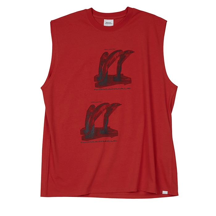[노매뉴얼] LUNCH TIME SLEEVELESS - RED