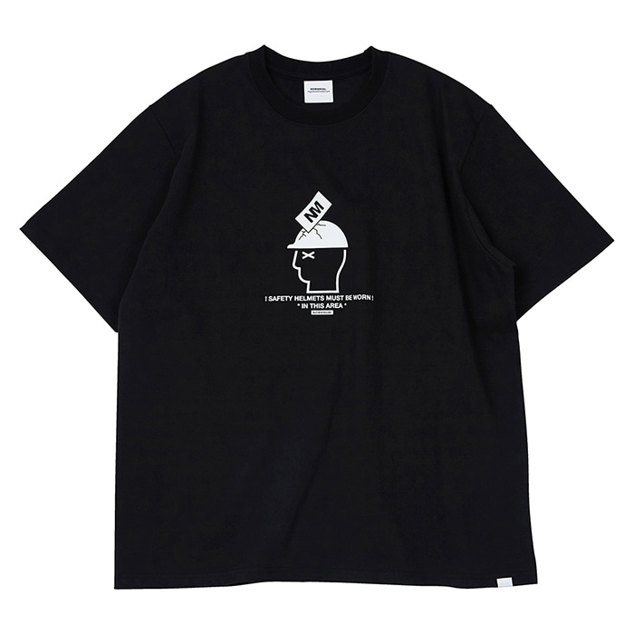 [노매뉴얼] SAFETY HELMET T-SHIRT - BLACK