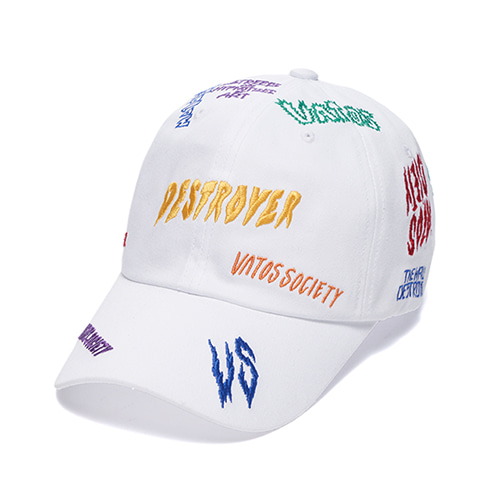 [스티그마]STIGMA DESTROYER BASEBALL CAP WHITE