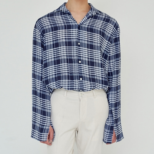 [트립르센스] SUMMER TARTAN CHECK SHIRTS NAVY
