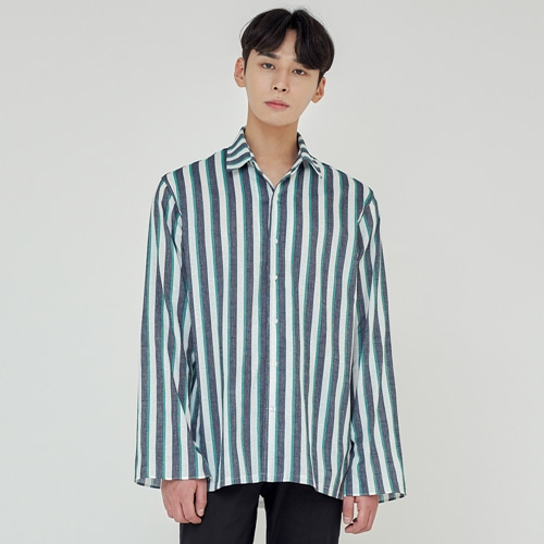 [트립르센스] TLS STRIPE SHIRTS 1927 GREEN