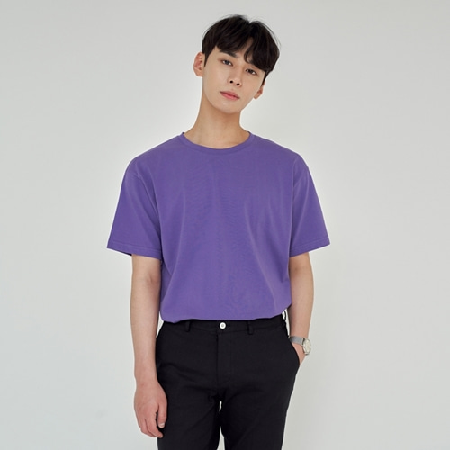 [트립르센스] LOOSE FIT SILKET T-SHIRTS PURPLE