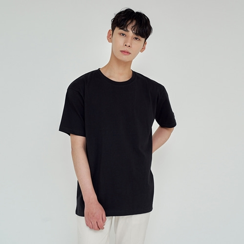 [트립르센스] LOOSE FIT SILKET T-SHIRTS BLACK