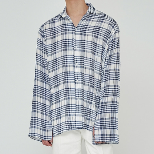[트립르센스] SUMMER TARTAN CHECK SHIRTS WHITE
