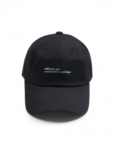 [에드] DEFINITION CAP BLACK
