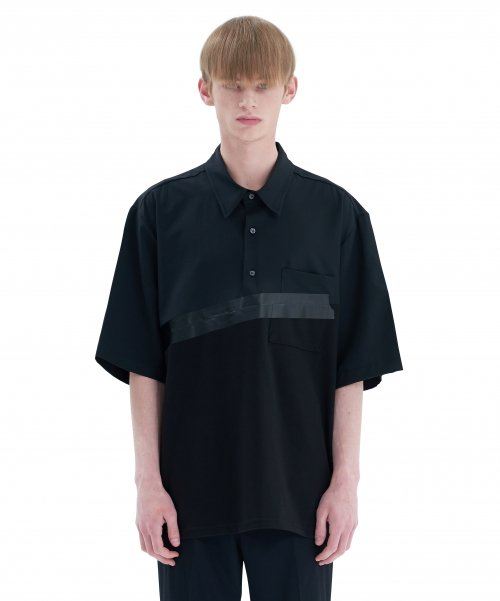 [에드] BOX TAPE SHIRT A BLACK