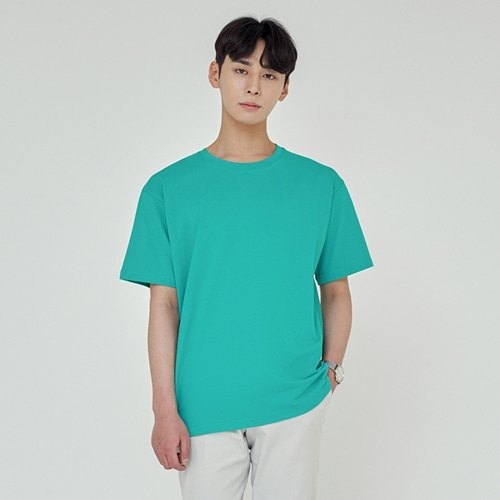 [트립르센스] LOOSE FIT SILKET T-SHIRTS BLUE GREEN