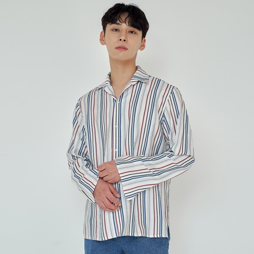 [트립르센스] TLS STRIPE SHIRTS 1912 BLUE