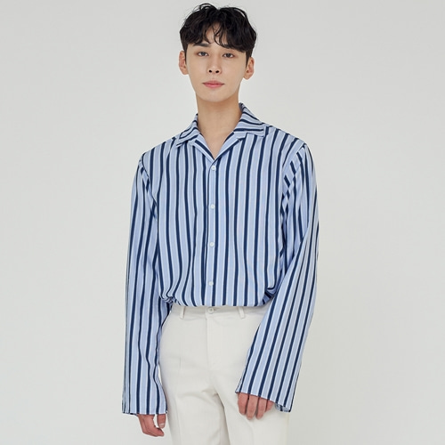 [트립르센스] TLS STRIPE SHIRTS 1922 BLUE