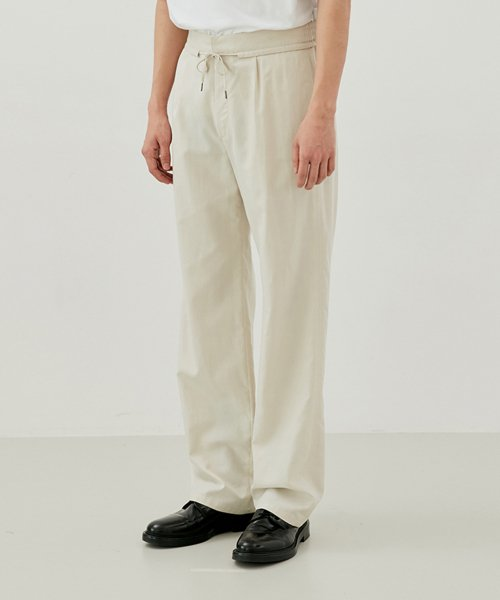 [커렌트] SUMMER PANTS MEN [IVORY]