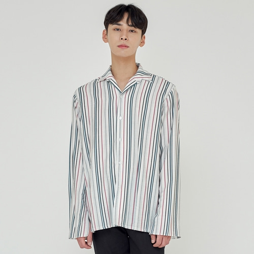 [트립르센스] TLS STRIPE SHIRTS 1911 GREEN
